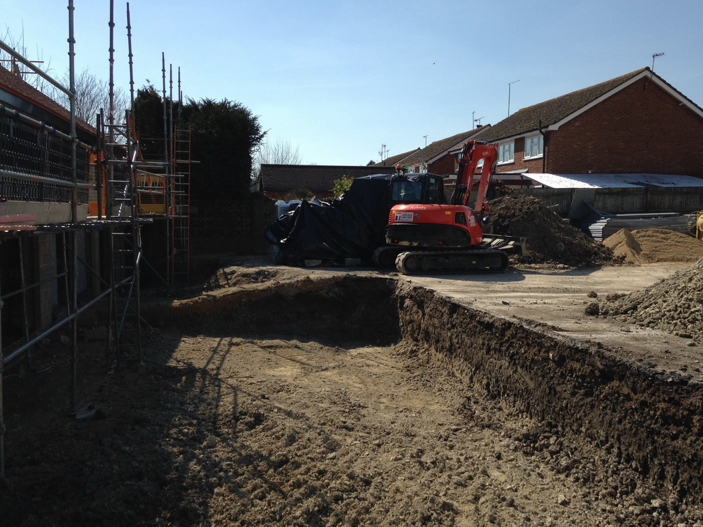 2 Apr 2016 Garden area being levelled