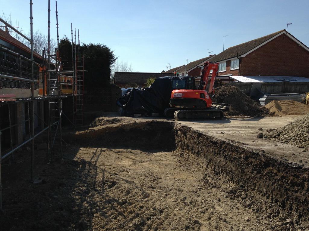 2 Apr 2016 Garden area being levelled