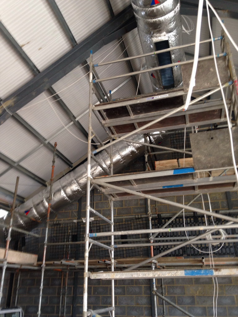 21 May 2016 Air conditioning in place in new hall