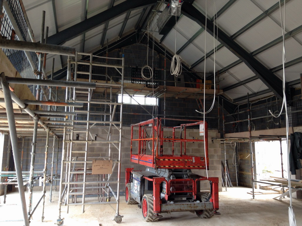 21 May 2016 New hall - retractable seating area