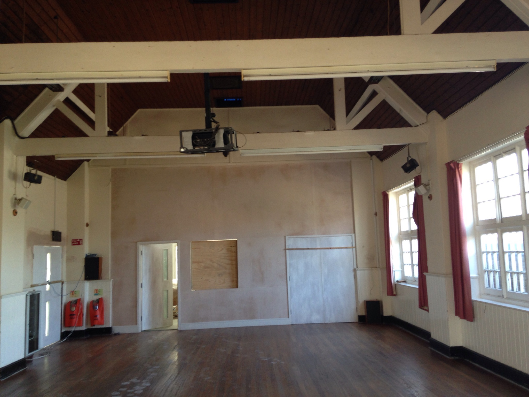 24 Aug 2016 Door & hatch to new kitchen from old hall