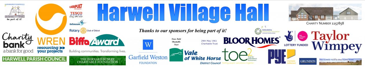 Harwell Village Hall – Charity Number 1157858